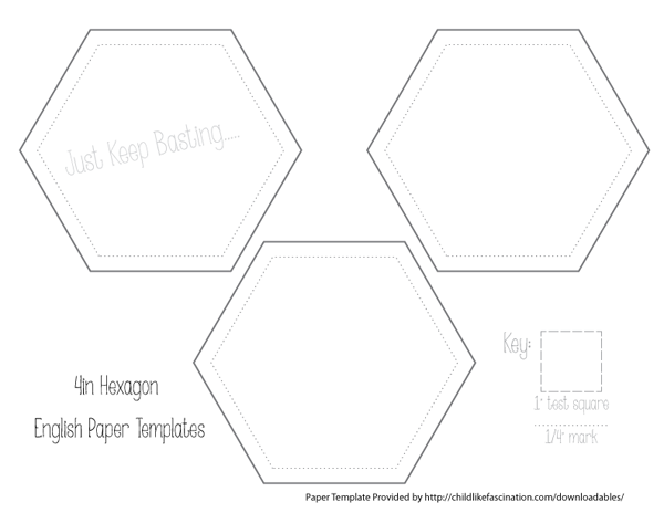 Quilting sketch template downloadables childlike for Hexagon templates for quilting free