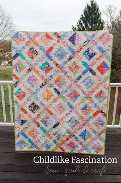 Dreaming in Honey quilt by Terri Ann of Childlike Fascination
