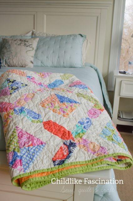 Gosh this quilt looks nice in the master bedroom in the big house
