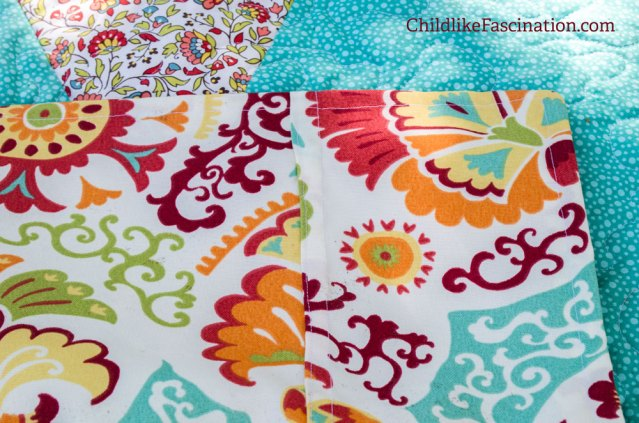 Outdoor home decor fabric backing to keep this quilt strong on the beach, patio or on a picnic