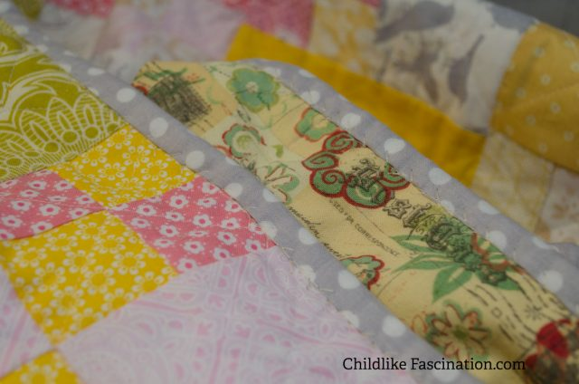 Decorative stitch machine binding! Looks so good and was so easy!
