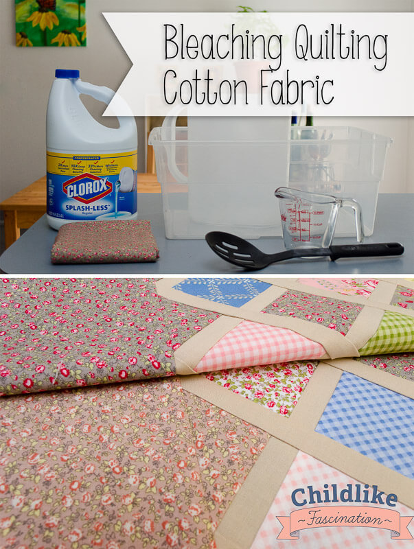 Bleaching Quilting Cotton Fabric