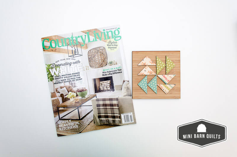 Mini Barn Quilts in Country Living Magazine