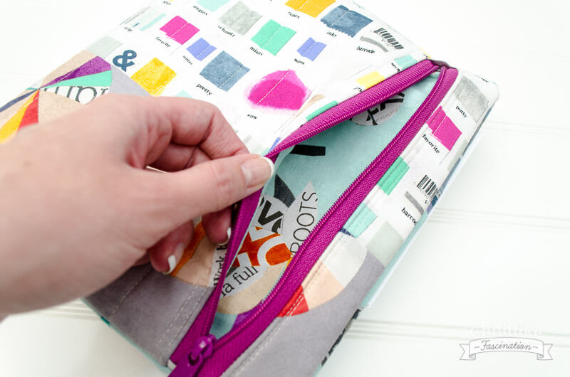 Finished Quilter's Planner with Zipper Pouch