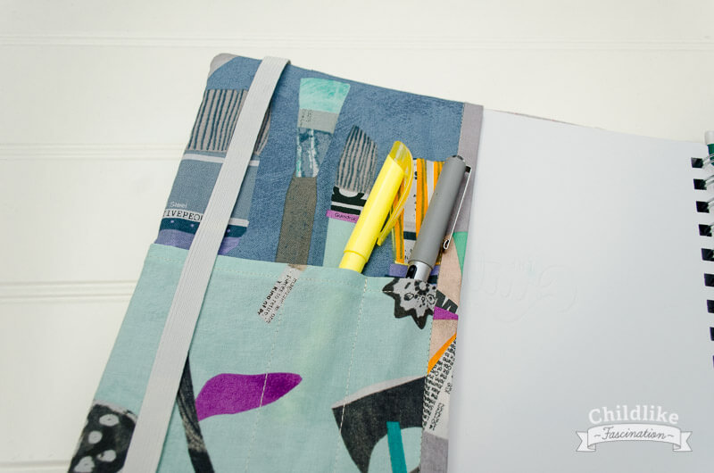 Details of inside flap in my new Quilter's Planner cover