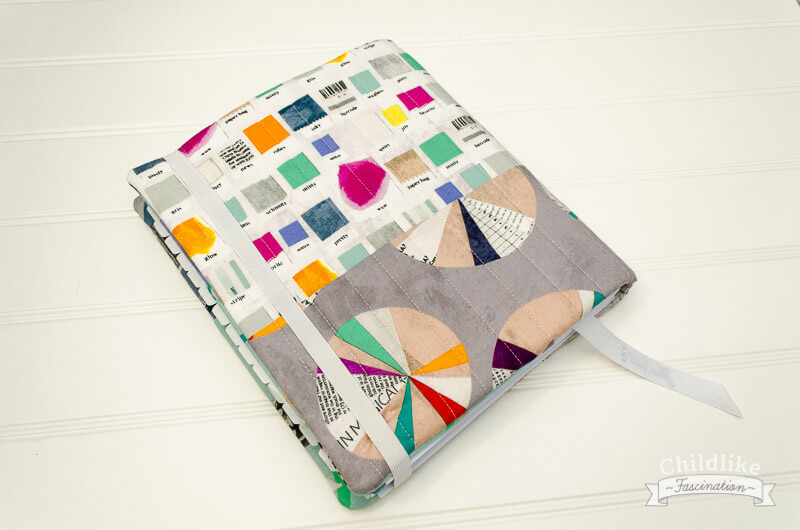 Finished back cover of my Quilter's Planner